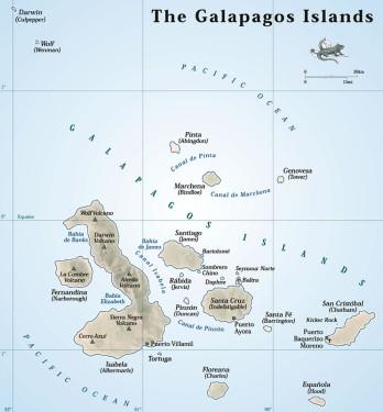 מפת איי גאלאפגוס