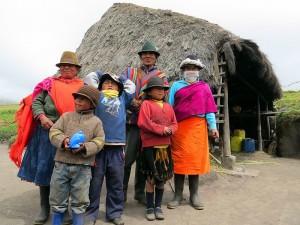 משפחה אינדיאנית בקרבת קילוטואה