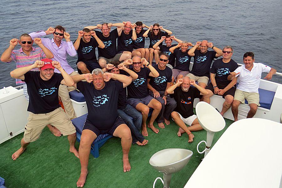 להקת כרישי פטיש בגלפגוס